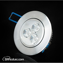 DOWNLIGHT BLANCO CALIDO 3X3W MULTI LENTE