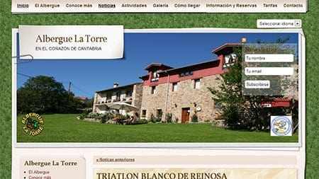 Web Albergue La Torre