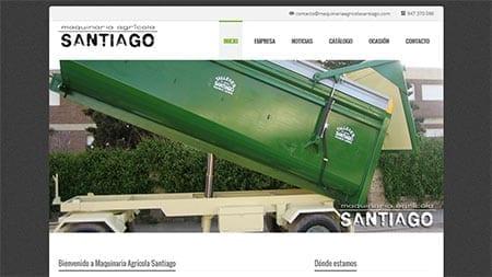 Web Maquinaria Agrícola Santiago